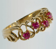 Gold, rubies