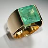 The Ring. Gold 18k, the emerald 7,26ct.